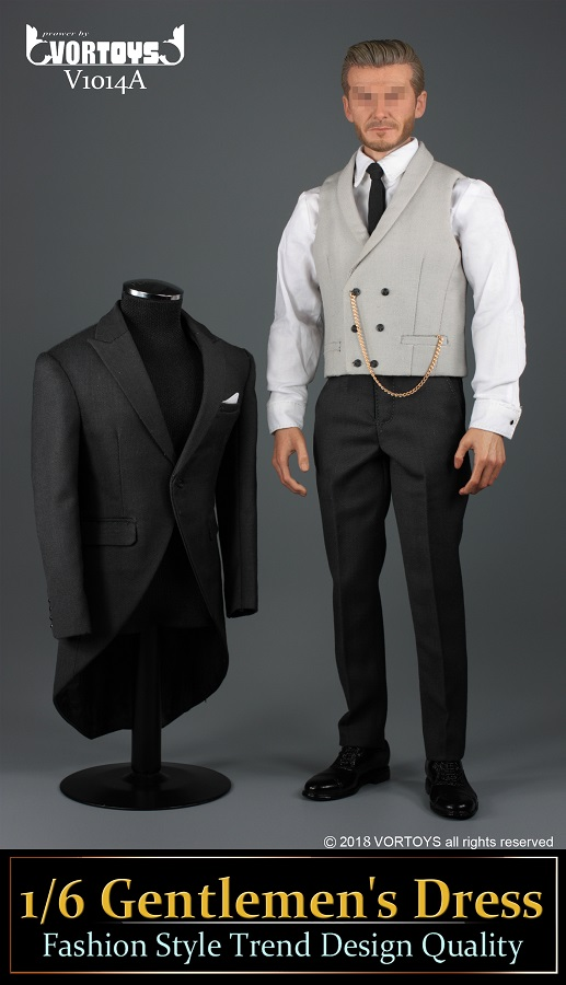 NEW PRODUCT: VORTOYS New Products: 1/6 British Gentleman Suit Dress Set - Royal Wedding Tricolor (V1014) 16455610