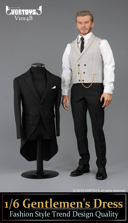 NEW PRODUCT: VORTOYS New Products: 1/6 British Gentleman Suit Dress Set - Royal Wedding Tricolor (V1014) 16455910