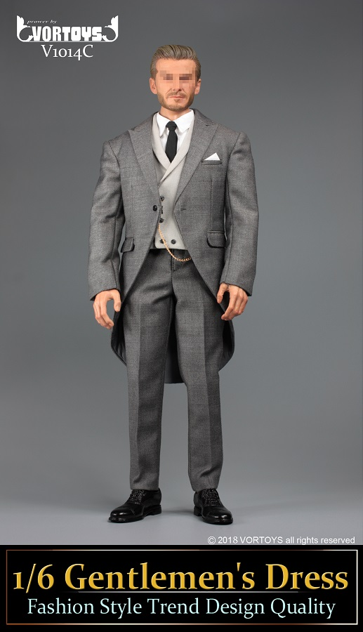 NEW PRODUCT: VORTOYS New Products: 1/6 British Gentleman Suit Dress Set - Royal Wedding Tricolor (V1014) 16460010