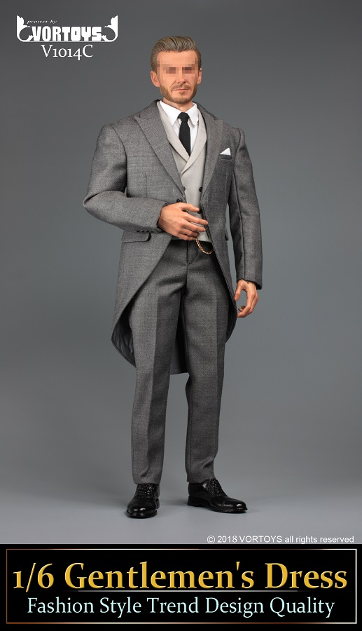 NEW PRODUCT: VORTOYS New Products: 1/6 British Gentleman Suit Dress Set - Royal Wedding Tricolor (V1014) 16460011