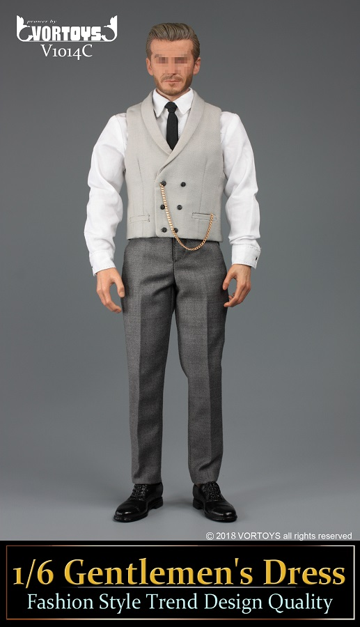 NEW PRODUCT: VORTOYS New Products: 1/6 British Gentleman Suit Dress Set - Royal Wedding Tricolor (V1014) 16460111