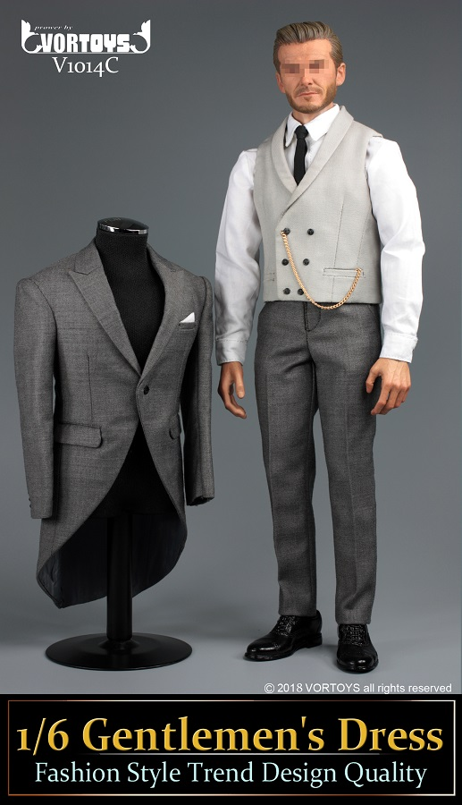 NEW PRODUCT: VORTOYS New Products: 1/6 British Gentleman Suit Dress Set - Royal Wedding Tricolor (V1014) 16460210