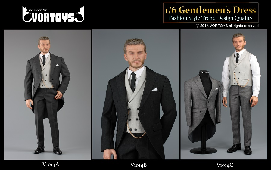 NEW PRODUCT: VORTOYS New Products: 1/6 British Gentleman Suit Dress Set - Royal Wedding Tricolor (V1014) 16460310