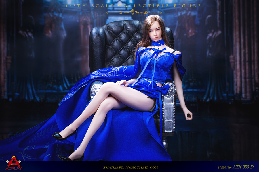 NEW PRODUCT: ACPLAY: 1/6 Queen style retro long skirt cloak set four colors (ATX050) 16524610