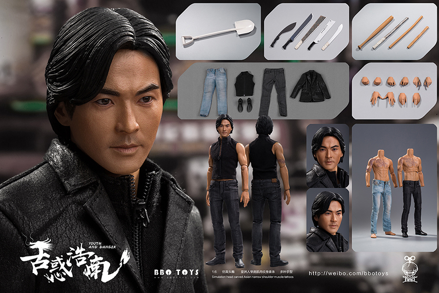NEW PRODUCT: BBO TOYS YOUTH AND DANGER - BROTHER HO NAM 1/6 SCALE ACTION FIGURE (TWO BODIES) 16594110