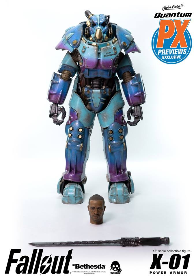 "Fallout - NEW PRODUCT: Three Zero Exclusive 1/6th scale X-01 ""Quantum"" Power Armor 14.5-inch Figure Set 1665"