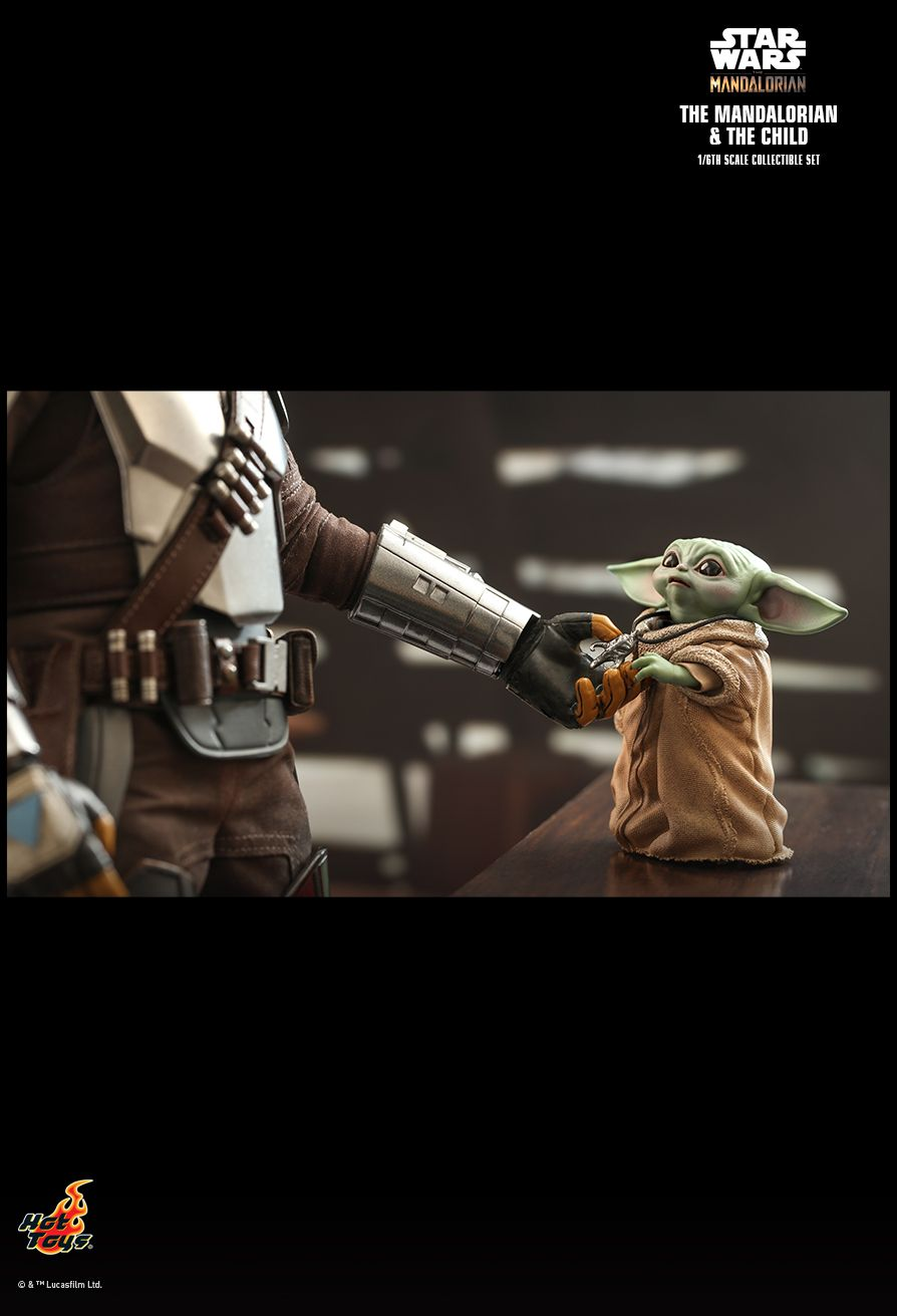 Sci-Fi - NEW PRODUCT: HOT TOYS: THE MANDALORIAN THE MANDALORIAN AND THE CHILD 1/6TH SCALE COLLECTIBLE SET (Standard and Deluxe) 16a52210