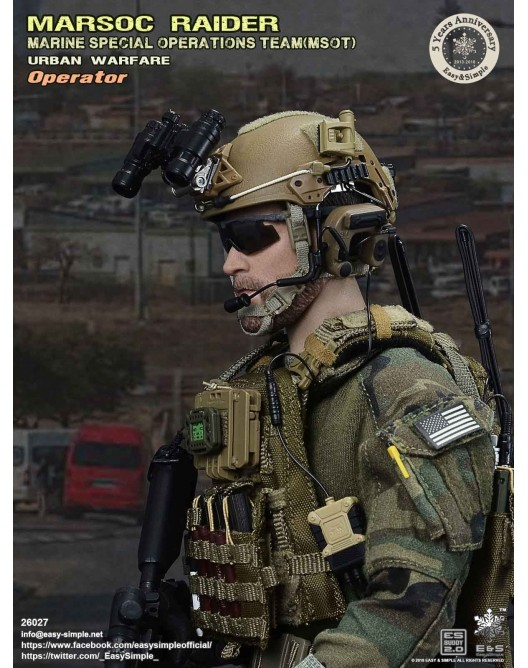NEW PRODUCT: Easy & Simple 26027 1/6 Scale MARSOC Raider Urban Warfare Operator 17-52810
