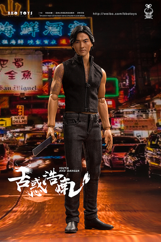 NEW PRODUCT: BBO TOYS YOUTH AND DANGER - BROTHER HO NAM 1/6 SCALE ACTION FIGURE (TWO BODIES) 17000310