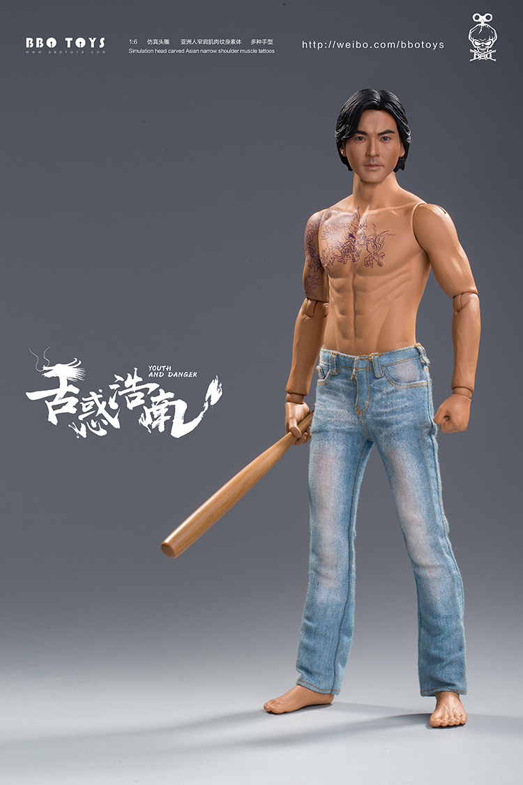 NEW PRODUCT: BBO TOYS YOUTH AND DANGER - BROTHER HO NAM 1/6 SCALE ACTION FIGURE (TWO BODIES) 17005210
