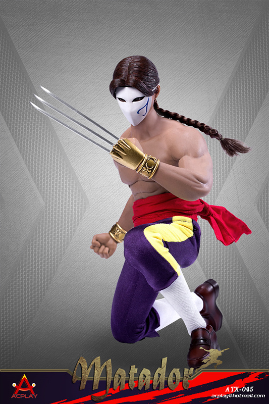 NEW PRODUCT: ACPLAY New: ATX045 /6 Street Fighter Matador Ninja Set with head carving 17052010