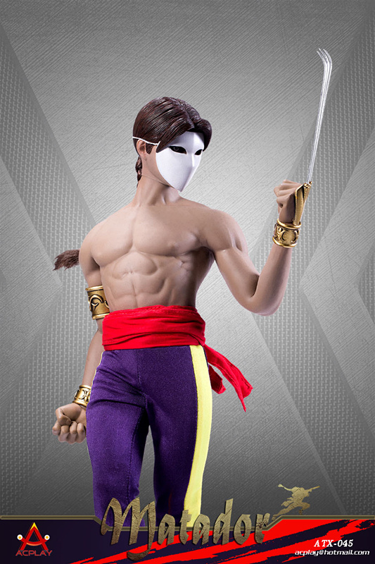NEW PRODUCT: ACPLAY New: ATX045 /6 Street Fighter Matador Ninja Set with head carving 17052910