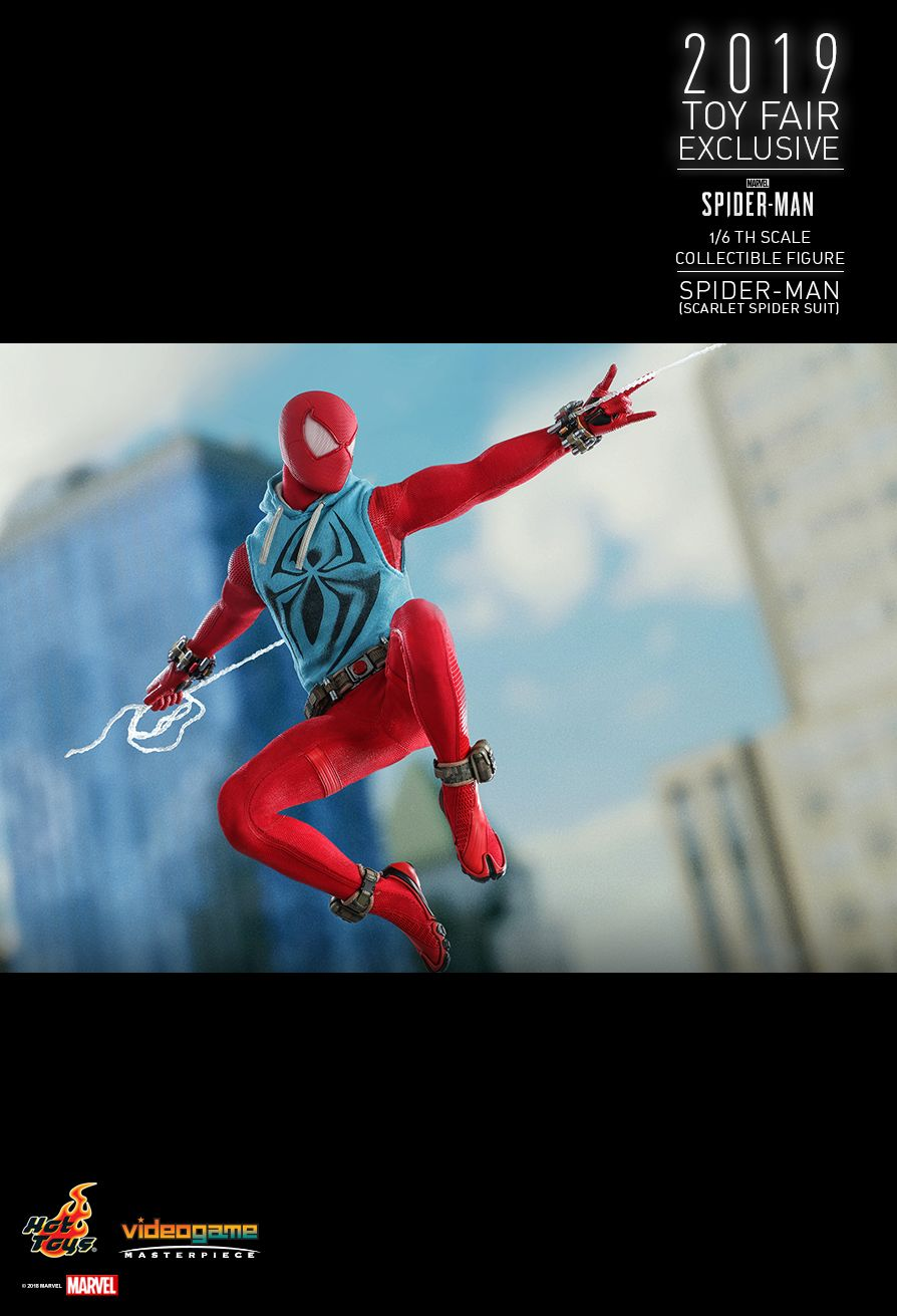 marvel - NEW PRODUCT: HOT TOYS: MARVEL'S SPIDER-MAN SPIDER-MAN (SCARLET SPIDER SUIT) 1/6TH SCALE COLLECTIBLE FIGURE 17100