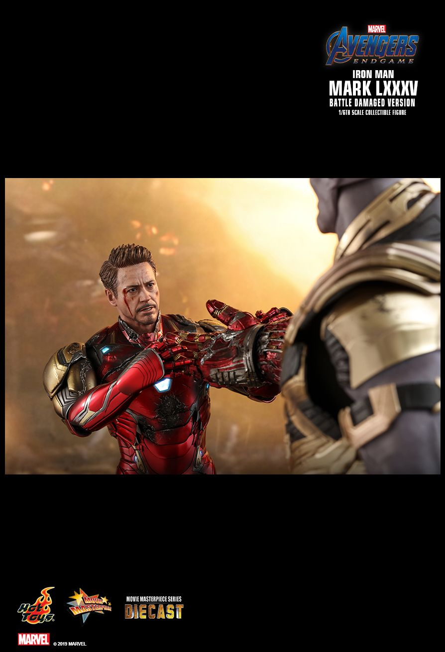 marvel - NEW PRODUCT: HOT TOYS: AVENGERS: ENDGAME IRON MAN MARK LXXXV (BATTLE DAMAGED VERSION) 1/6TH SCALE COLLECTIBLE FIGURE 17108