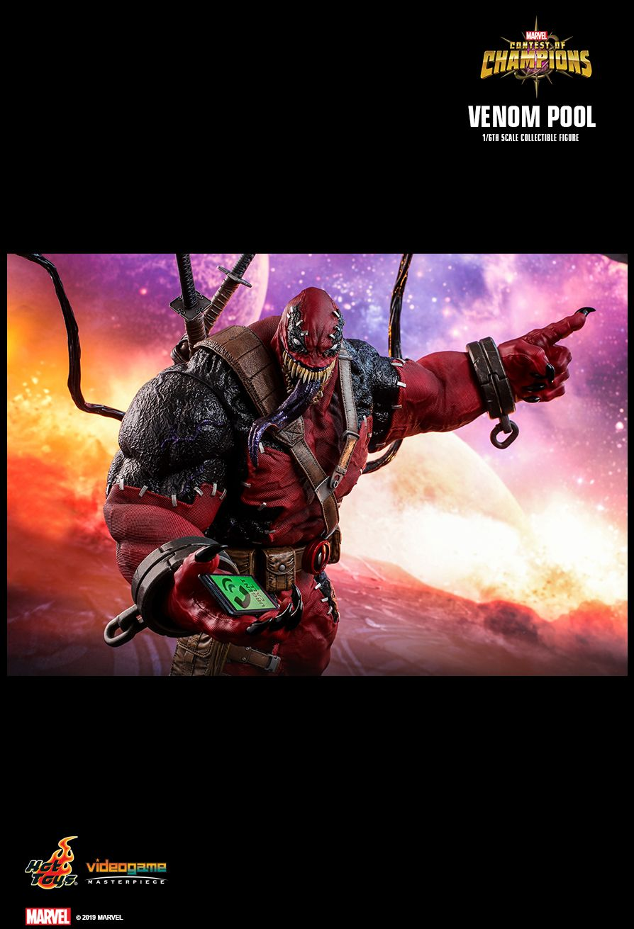 NEW PRODUCT: HOT TOYS: MARVEL CONTEST OF CHAMPIONS VENOMPOOL 1/6TH SCALE COLLECTIBLE FIGURE 17110
