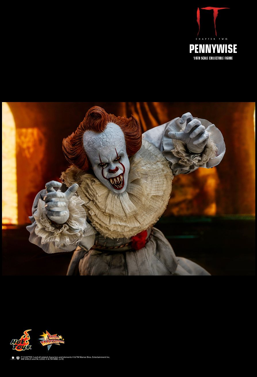 NEW PRODUCT: HOT TOYS: IT CHAPTER TWO PENNYWISE 1/6TH SCALE COLLECTIBLE FIGURE 17117