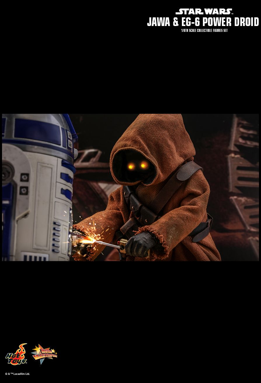 NEW PRODUCT: HOT TOYS: STAR WARS: EPISODE IV A NEW HOPE JAWA & EG-6 POWER DROID 1/6TH SCALE COLLECTIBLE SET 17118