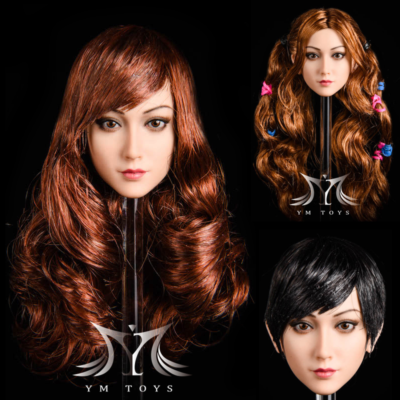 NEW PRODUCT: YMTOYS: 1/6 head carving jasmine hair female head carving - a total of four hair style YMT027 17163310