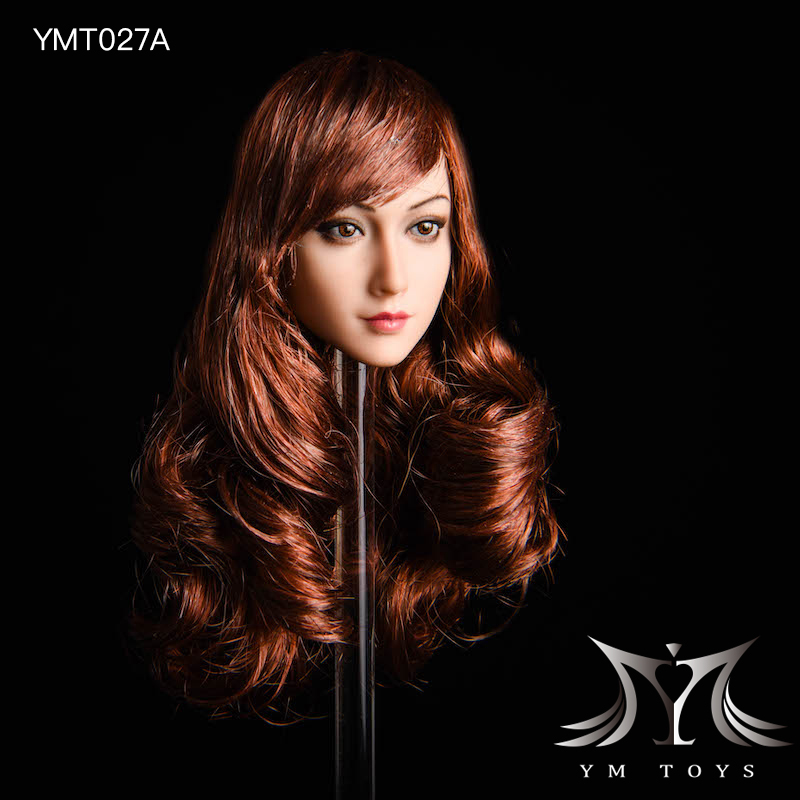 NEW PRODUCT: YMTOYS: 1/6 head carving jasmine hair female head carving - a total of four hair style YMT027 17163411