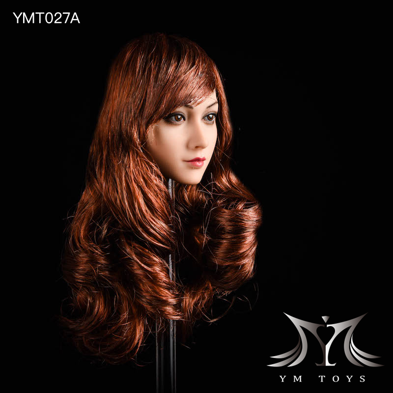 NEW PRODUCT: YMTOYS: 1/6 head carving jasmine hair female head carving - a total of four hair style YMT027 17163510