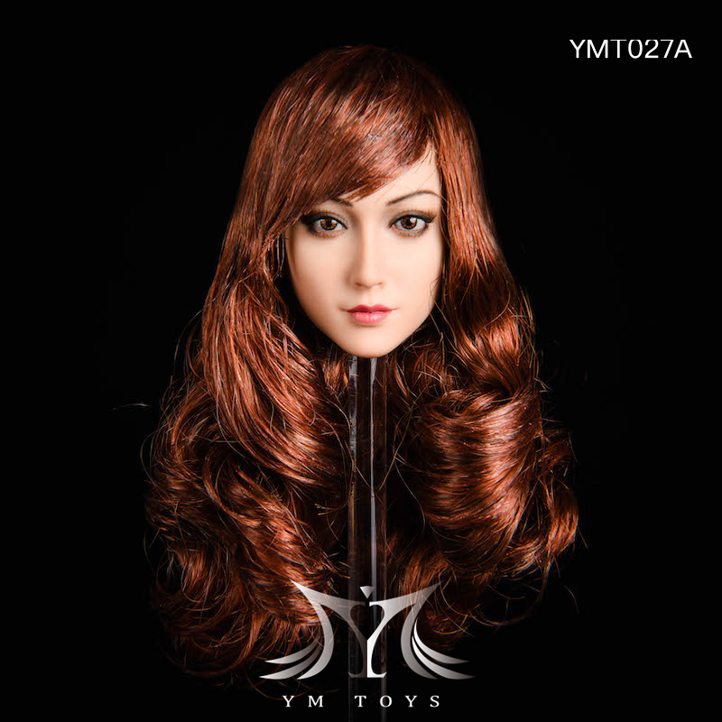 NEW PRODUCT: YMTOYS: 1/6 head carving jasmine hair female head carving - a total of four hair style YMT027 17163610