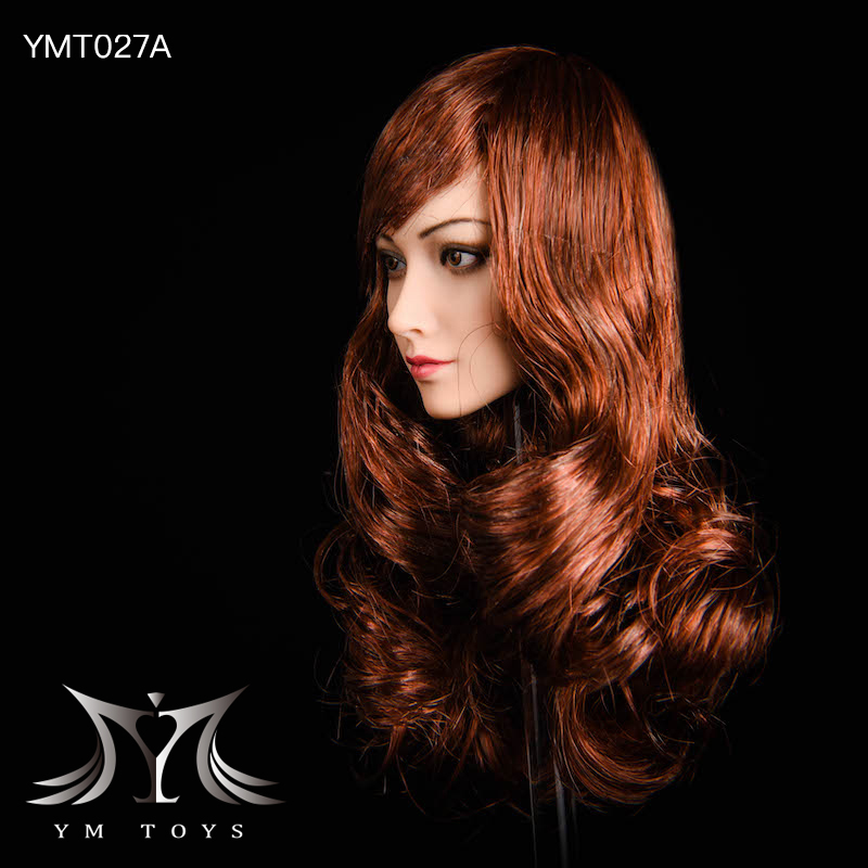 NEW PRODUCT: YMTOYS: 1/6 head carving jasmine hair female head carving - a total of four hair style YMT027 17163710