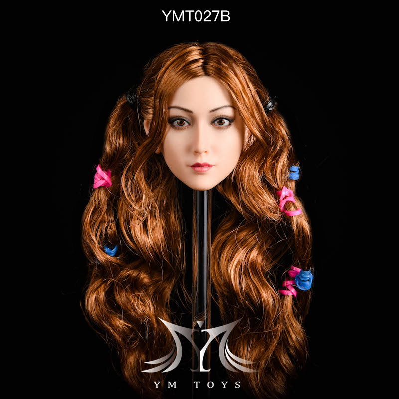 NEW PRODUCT: YMTOYS: 1/6 head carving jasmine hair female head carving - a total of four hair style YMT027 17163810