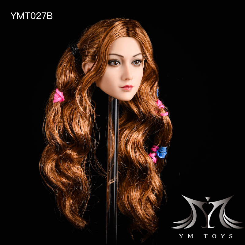 NEW PRODUCT: YMTOYS: 1/6 head carving jasmine hair female head carving - a total of four hair style YMT027 17163811