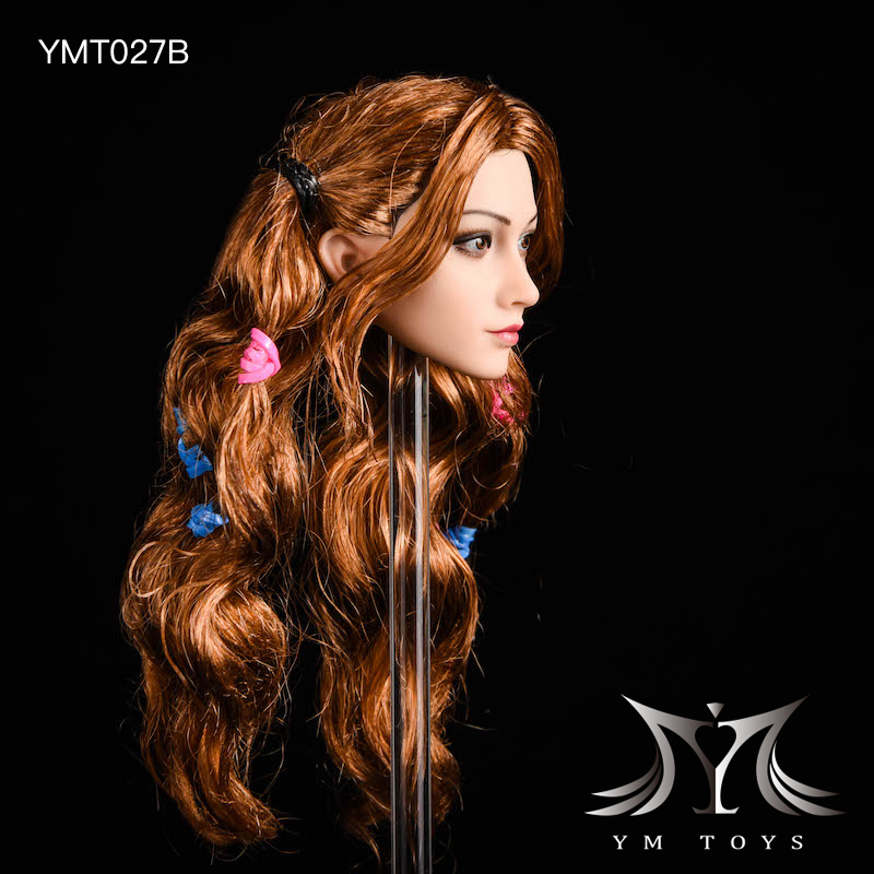NEW PRODUCT: YMTOYS: 1/6 head carving jasmine hair female head carving - a total of four hair style YMT027 17163910