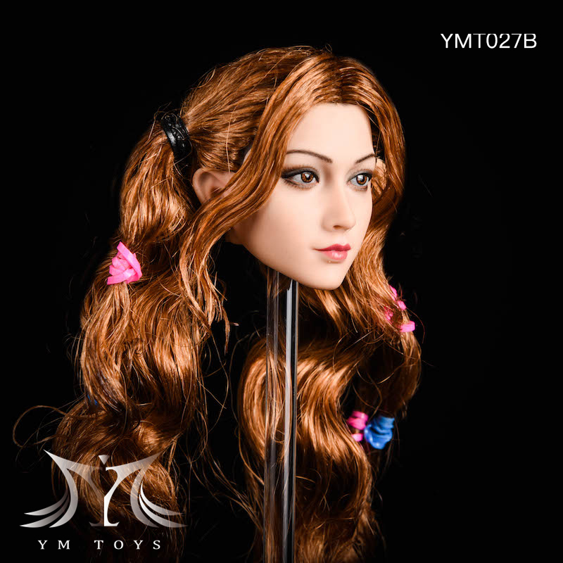 NEW PRODUCT: YMTOYS: 1/6 head carving jasmine hair female head carving - a total of four hair style YMT027 17163911