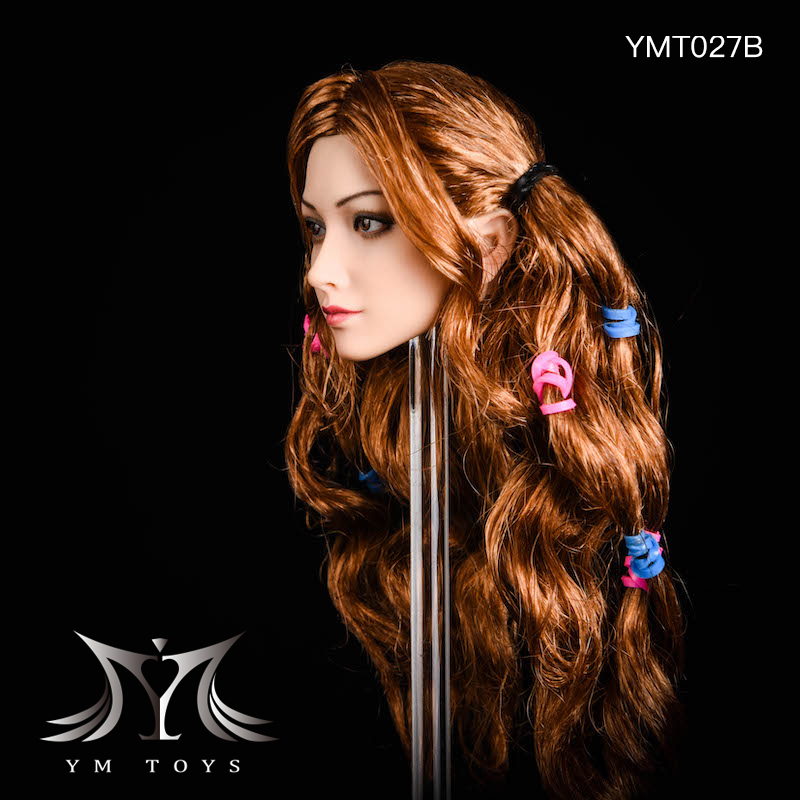 NEW PRODUCT: YMTOYS: 1/6 head carving jasmine hair female head carving - a total of four hair style YMT027 17164011