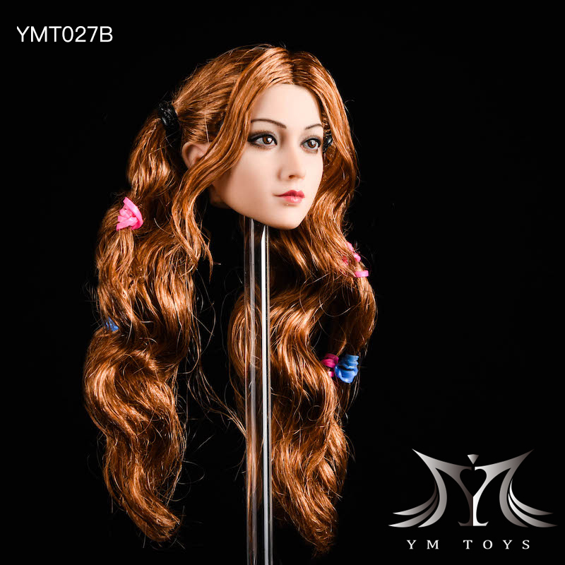 NEW PRODUCT: YMTOYS: 1/6 head carving jasmine hair female head carving - a total of four hair style YMT027 17164110