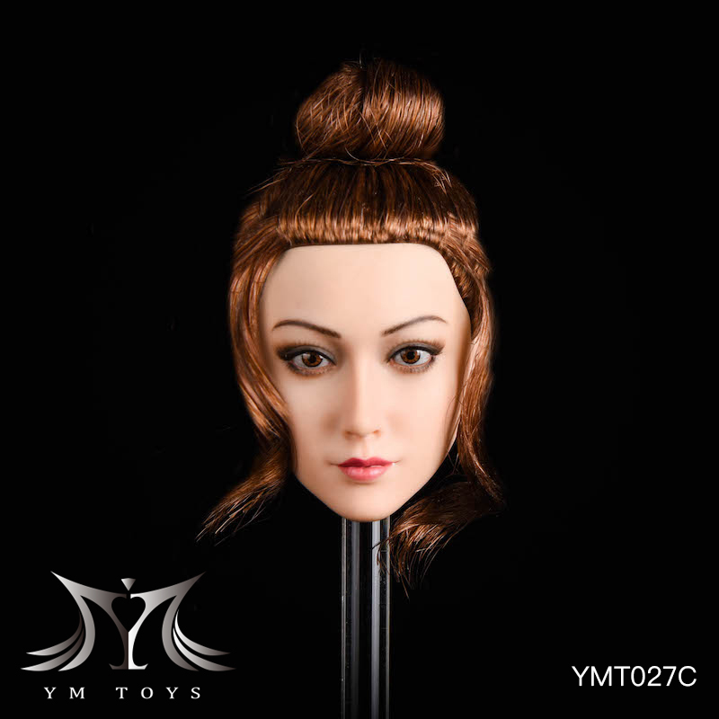 NEW PRODUCT: YMTOYS: 1/6 head carving jasmine hair female head carving - a total of four hair style YMT027 17164210