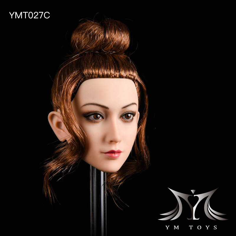 NEW PRODUCT: YMTOYS: 1/6 head carving jasmine hair female head carving - a total of four hair style YMT027 17164610