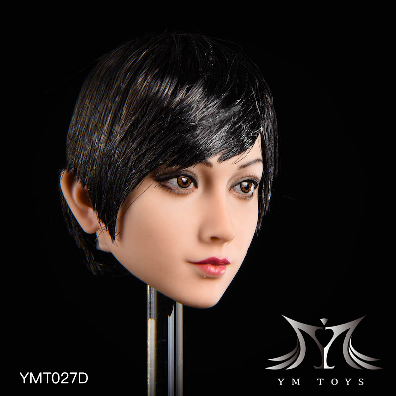 NEW PRODUCT: YMTOYS: 1/6 head carving jasmine hair female head carving - a total of four hair style YMT027 17164810