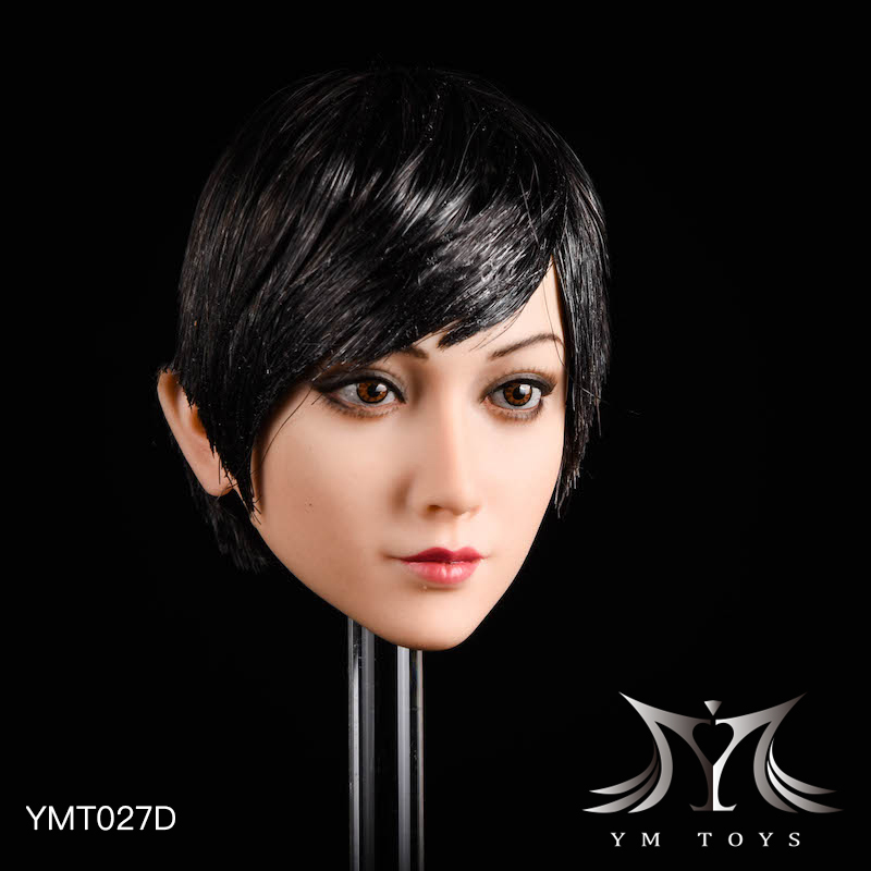 NEW PRODUCT: YMTOYS: 1/6 head carving jasmine hair female head carving - a total of four hair style YMT027 17164811