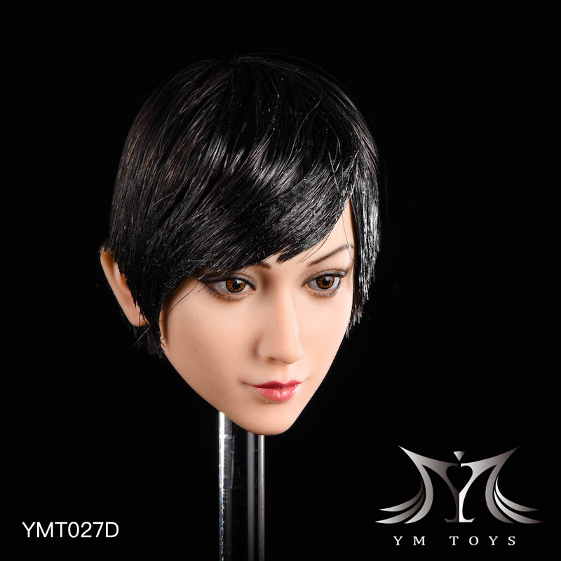NEW PRODUCT: YMTOYS: 1/6 head carving jasmine hair female head carving - a total of four hair style YMT027 17164910