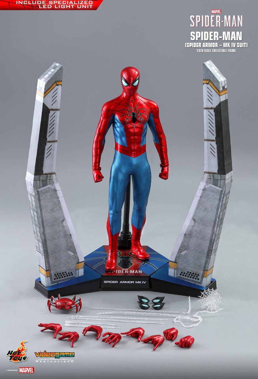 videogame - NEW PRODUCT: HOT TOYS: SPIDER-MAN (SPIDER ARMOR - MK IV SUIT) MARVEL'S SPIDER-MAN 1/6TH SCALE COLLECTIBLE FIGURE 17169