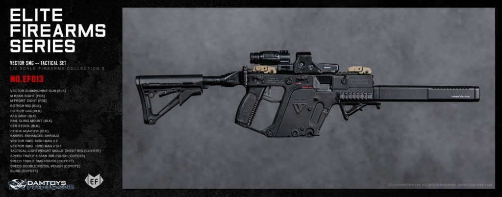 NEW PRODUCT: DAM Toys: 1/6 Elite Firearms Series 3 - Vector SMG - Tactical Set (EF013) 17201810