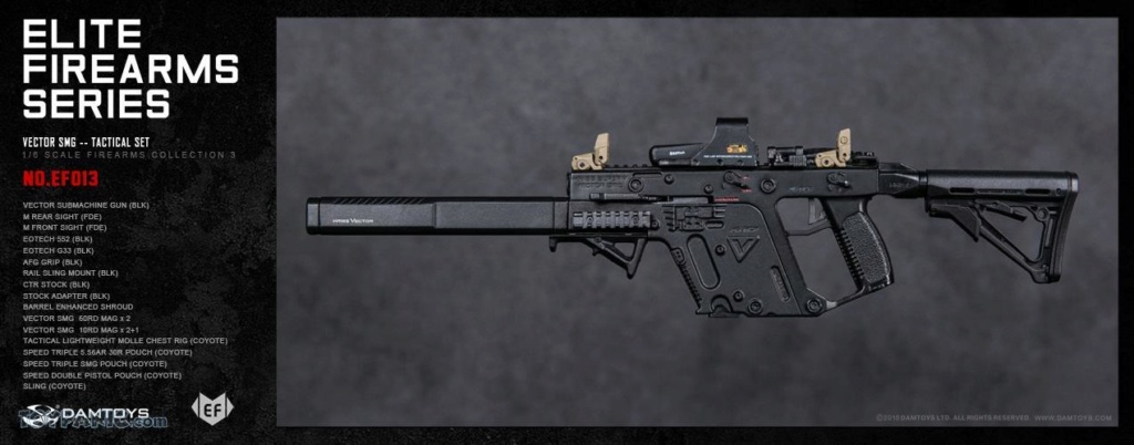 NEW PRODUCT: DAM Toys: 1/6 Elite Firearms Series 3 - Vector SMG - Tactical Set (EF013) 17201811
