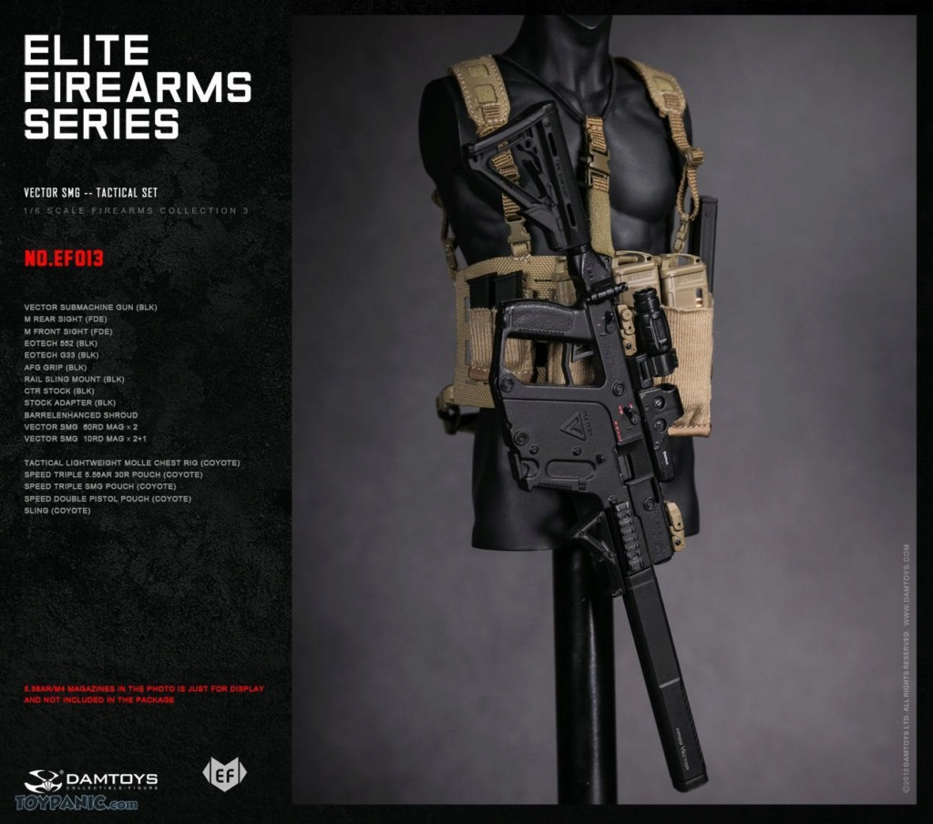 DamToys - NEW PRODUCT: DAM Toys: 1/6 Elite Firearms Series 3 - Vector SMG - Tactical Set (EF013) 17201812