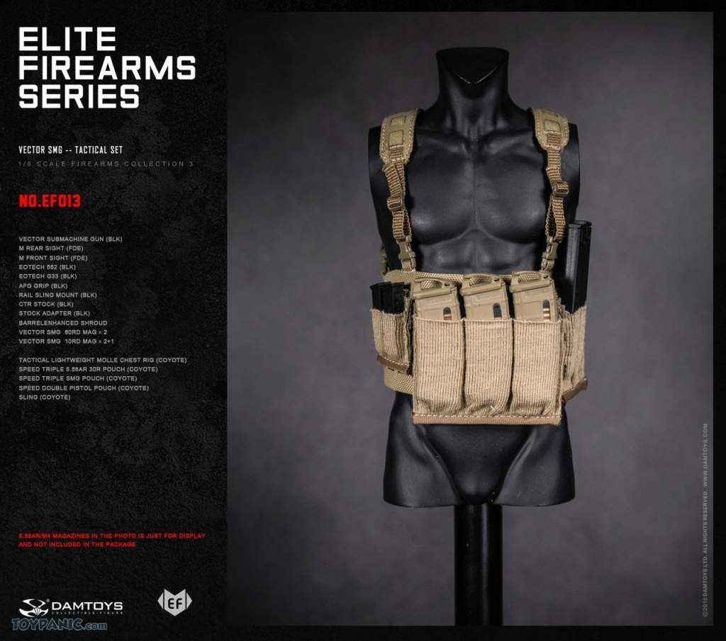 DamToys - NEW PRODUCT: DAM Toys: 1/6 Elite Firearms Series 3 - Vector SMG - Tactical Set (EF013) 17201813