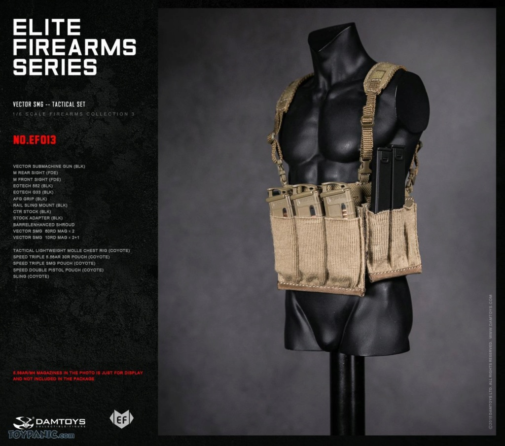NEW PRODUCT: DAM Toys: 1/6 Elite Firearms Series 3 - Vector SMG - Tactical Set (EF013) 17201814