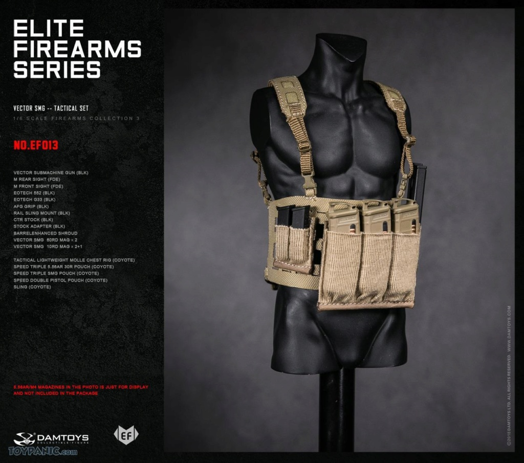 NEW PRODUCT: DAM Toys: 1/6 Elite Firearms Series 3 - Vector SMG - Tactical Set (EF013) 17201815