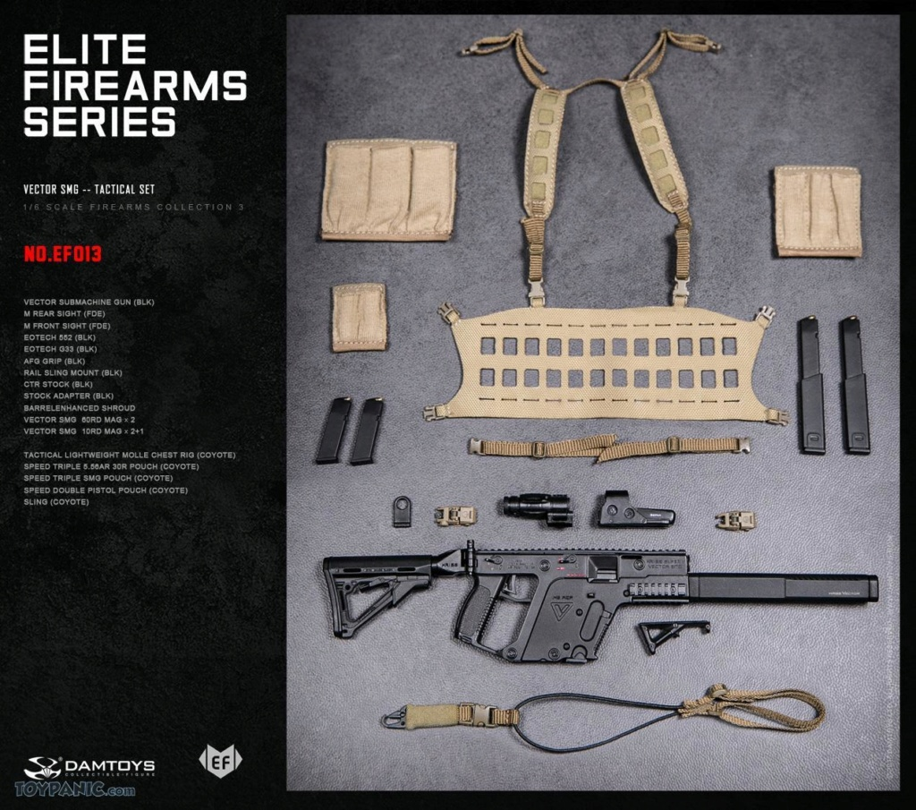 NEW PRODUCT: DAM Toys: 1/6 Elite Firearms Series 3 - Vector SMG - Tactical Set (EF013) 17201816