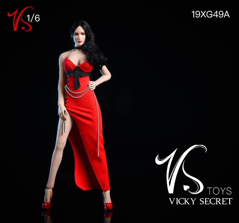 female - NEW PRODUCT: VSTOYS: 1/6 Dinner Dress & Trendy Shirt Tights Set & Caribbean Short Skirt Set 17233710