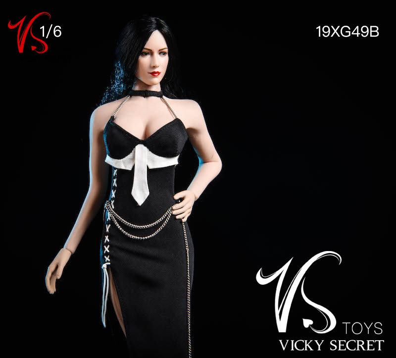 female - NEW PRODUCT: VSTOYS: 1/6 Dinner Dress & Trendy Shirt Tights Set & Caribbean Short Skirt Set 17233811