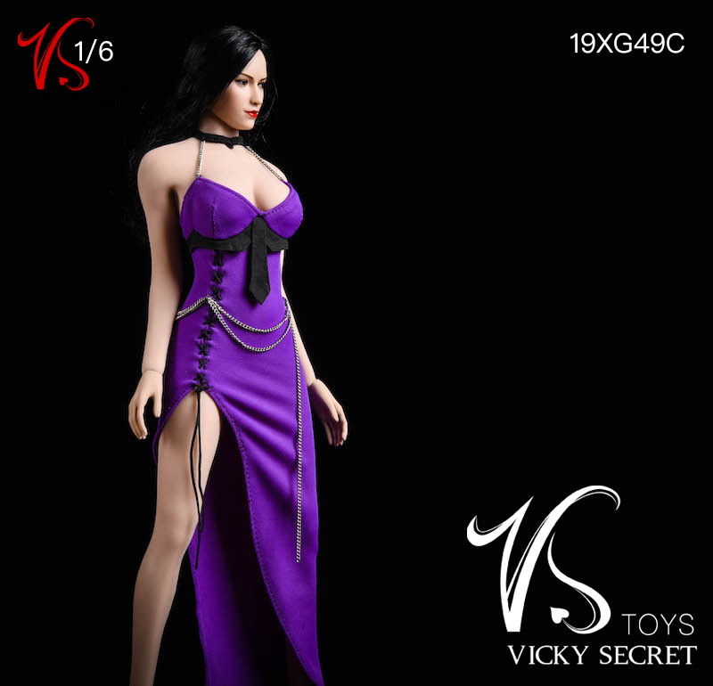 female - NEW PRODUCT: VSTOYS: 1/6 Dinner Dress & Trendy Shirt Tights Set & Caribbean Short Skirt Set 17234510