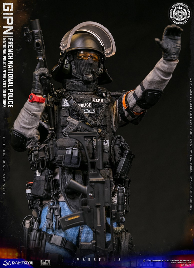 ModernMilitary - NEW PRODUCT: DAMTOYS: GIPN French National Police intervention team Marseille 17314510