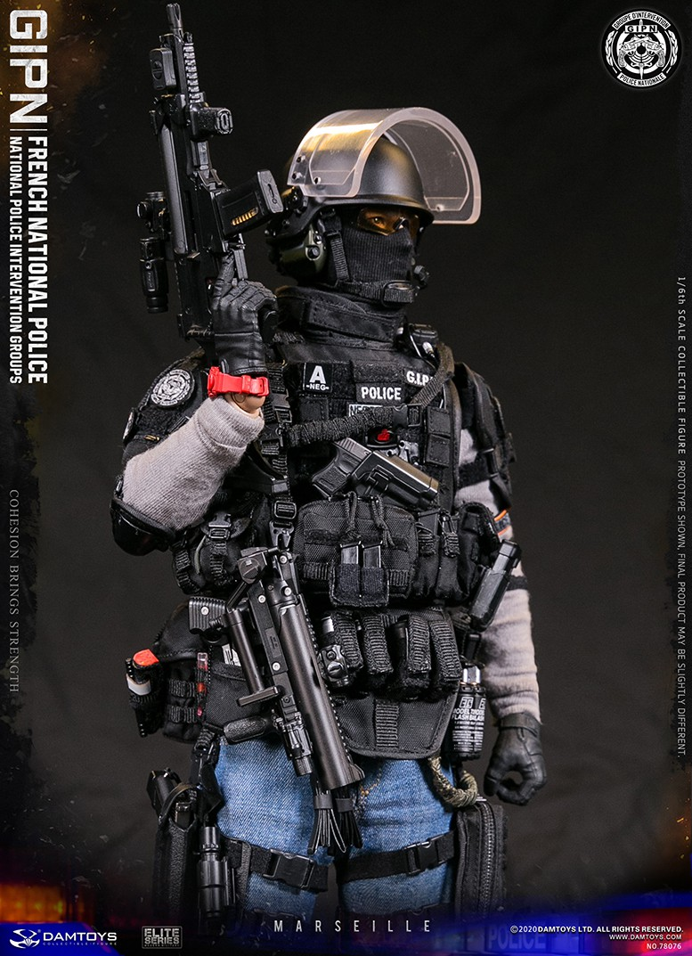 ModernMilitary - NEW PRODUCT: DAMTOYS: GIPN French National Police intervention team Marseille 17373811